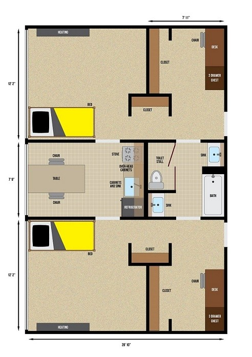 Mayflower Single Room Floor Plan